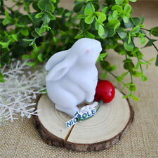 Food Grade 3D Cute Rabbit Chocolate Jelly Pudding Resin Mold Silicone Soap Mould