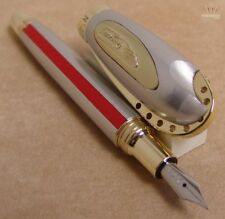 DUCATI LIMITED EDITION SPORT CLASSIC SILVER WITH GOLD PLATED TRIM FOUNTAIN PEN !