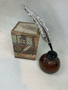 Vintage AVON Inkwell Decanter WINDJAMMER After Shave Full 6oz. with Box! 530