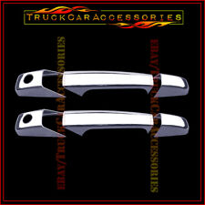 For CADILLAC Escalade+ESV+EXT 2007-2013 Chrome 2 Door Handle Covers WITH Keyhole