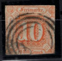 T4287/ GERMANY – THURN & TAXIS – MI # 19 USED – CV 695 $