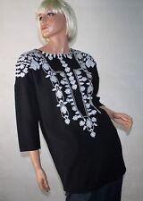 Zara 3/4 Arm Damenblusen, - tops & -shirts mit Rundhals-Ausschnitt