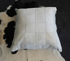 A GORGEOUS WHITE LARGE 60CM SQUARE PATCHWORK  BRAZILIAN COWHIDE CUSHION COVER
