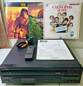 Vtg Pioneer CLD-990 Laser Disc Player CD CDV LD with 3 Laser Discs and Remote
