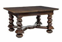 EARLY 20TH CENTURY OAK EXTENDING DINING TABLE