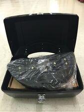 Black DMY Motorcycle Trunk Tail box with Top Rack & Backrest HONDA YAMAHA SUZUKI