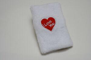 12 pieces Love Cotton Wristband Sweatband Embroidered Logo Wholesale