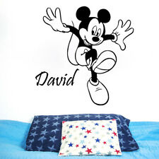 Personalized Name Wall Decal Mickey Mouse Decal Vinyl Stickers Nursery Decor KY2