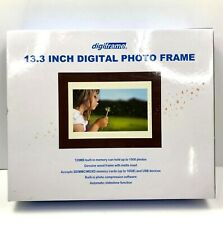 """Digiframe Digital TFT LCD Photo Frame 13.3"""" with 128MB Built-in Memory DPF-1331"""