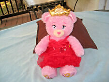 2016 Build A Bear Disney Princess Light Up Pink Glitter Bear With Dress