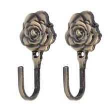 Tieback Hook Rose Pattern Iron Curtain Wall Hanger Belts Towels Home Decorations