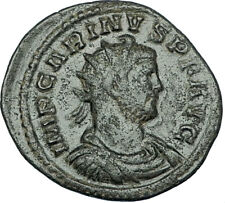 CARINUS Original 284AD Lugdunum Authentic Ancient Roman Coin VICTORY i65842