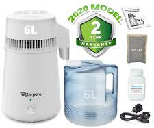 6 LITRI distillatore d'acqua, acciaio inox, Poly caraffa, 2020 modello fare ACQUA PURA