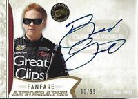 2011 Press Pass FanFare Autographs Gold #72 Brad Sweet Auto /99 - NM-MT