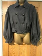 D&G Dolce & Gabbana Size 46 Jacket Grey Lined Cashmere Virgin Wool Blend Militar