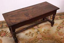 Tavolo tavolino rettangolare in legno con gambe lavorate coffee table wood old