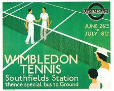 1933 Wimbledon TENNIS trasporto A3 POSTER STAMPA