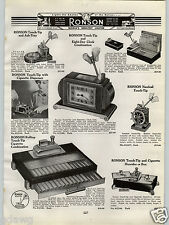1940 PAPER AD Ronson Touch Tip 8 Day Clock Cigarette Lighter Humidor Box