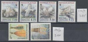 GREENLAND 1999/2001 WWF OWLS & HERITAGE MNH (ID:461/D59283)