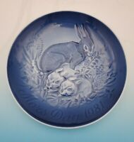 1999  Bing & Grondahl B&G Mother's Day Plate Rabbit and Bunnies No box