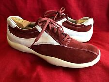Prada Red / White Suede Leather Fashion Sneakers Running Shoes Men's Size 12 T