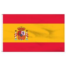 More details for spain nylon flag large 5 x 3 ft - hard wearing best quality 100%