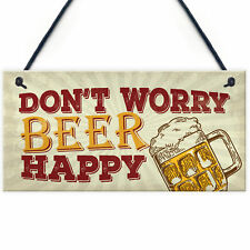 Rustic Beer Kitchen Pub Bar Hanging Wall Sign Man Cave Alcohol Garden Plaque