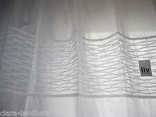 Liv Interior Gardine Schal Spitze Borte Landhaus weiß Vintage 100x200 Baumwolle