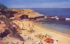LA JOLLA CA The Cove Beach Scene San Diego California Vintage Postcard ca 1950s