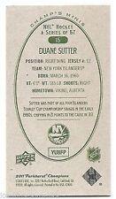 11/12 PARKHURST CHAMPIONS CHAMP'S MINI GREEN BACK PARALLEL Duane Sutter #15