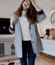 Topshop Celebrity Grey Black & White Grey Oversize Boyfriend Jacket Coat Size 12