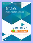 FINALE 27 - UPGRADE FROM ANY FINALE - MUSIC NOTATION SOFTWARE - DIGITAL - NEW