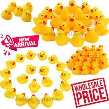 WHOLESALE Yellow Rubber DUCKS 100-5000 Squeaky Bath Toys Water Play Toddler DUCK