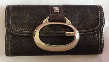 Guess Faux Snakeskin Wallet Boxed Brown Gold Clutch Genuine Womens Girls Fashion