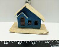 Vintage Christmas Village Decoration Mica Putz Paper Cardboard House No Tree