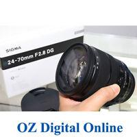 New Sigma 24-70mm F2.8 DG OS HSM Art for Nikon F Mount Lens 1 Year Au Wty
