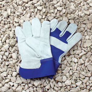 Men's Classic Rigger Thick Leather Palm Heavy Duty Work Garden Gloves One Size