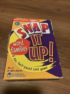 Learning Resources Snap It Up! Word Reading Game Word Families Used