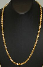 14K GOLD PLATED KOREA ROPE CHAIN NECKLACE 5792B