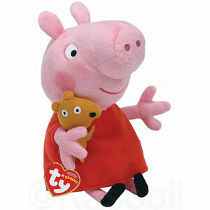 NEW OFFICAL GENUINE TY PEPPA PIG PLUSH SOFT TOY LICENSED, KIDS GIFT, CHILDRENS