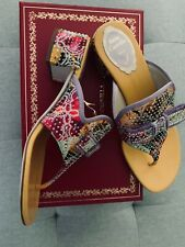 Rene Caovilla shoes, sandals New with Box, size 37 1/2, Made in Italy