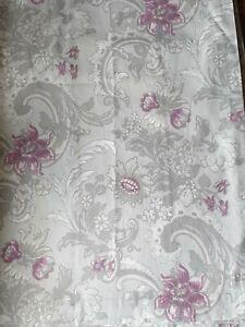 Laura Ashley Purple Grape Grey Baroque Curtains 62 X 54 Inches