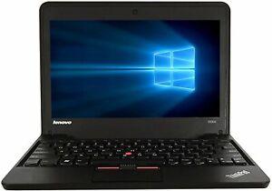 LENOVO X131E GLOSSY RED DUAL CORE 4gb 128gb SSD WEBCAM USB 3 WINDOWS 10 PRO
