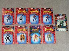 Marvel Spider-Man Die Cast Poseable Action Figure Lot: 9 different Figures MOC