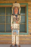 6' CIGAR STORE WOODEN INDIAN Chief Sacred Buffalo Native American by F Gallagher