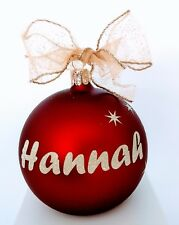 Personalized Christmas baubles European Glass in display box $25 top quality.