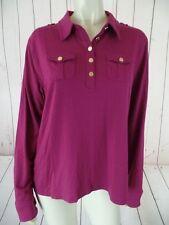 Tommy Hilfiger Shirt Top XL Magenta Stretch Knit Pullover Modal Spandex