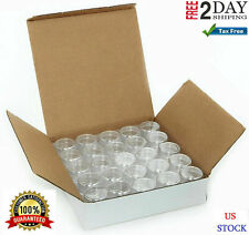 Small Plastic Containers Storage Acrylic Cosmetic With Lids For Makeup 50 pc New