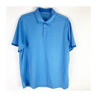 Mens Adidas ClimaCool Blue Performance Short Sleeve Golf Polo XL
