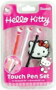 HELLO KITTY TOUCH PEN SET FOR NINTENDO DSi  & DS LITE -  NEW BOXED